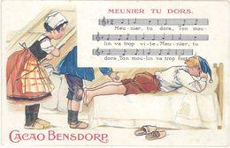 Cpa Publicitaire : Cacao Bensdorp – Meunier Tu Dors - Reclame