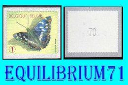 "R117** Jaune/Geel - Num/genum - Papillon/Vlinder ""Petit Mars Changeant"" - BELGIQUE - Coil Stamps"