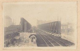 SAINT DENIS : Construction Pont De Soissons, Nouv. Et Anc Tablier Métallique. Quadruplement Voies Paris Soissons. Photo - Trains