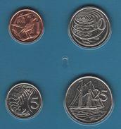 CAYMAN ISLANDS COIN SET 4 MONNAIES 1 CENT - 25 CENTS 2002 - 2008 TORTUE - Cayman Islands