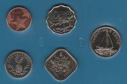 BAHAMAS COIN SET 5 MONNAIES 1 CENT - 25 CENTS 1992 - 2007 - Bahamas
