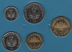HAITI COIN SET 5 MONNAIES 5 CENTIMES - 5 GOURDES 1997 - 2003 ANIMALS - Haïti