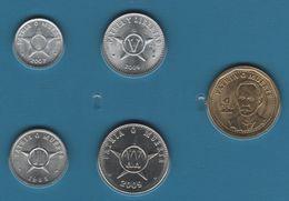 CUBA COIN SET 5 MONNAIES 1 CENTAVO - 1 PESO 1985 - 2012 - Cuba