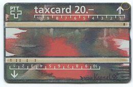1742 - 20 CHF Diana Von Kaenel - ABART Fleck - Gebrauchte Schalterkarte - Schweiz