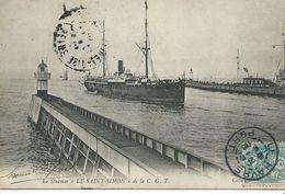 """76,Seine-Maritime, Le HAVRE, Le Steamer""""Le SAINT-SIMON"""" De La C.G.T,Scan Recto-Verso - Harbour"""