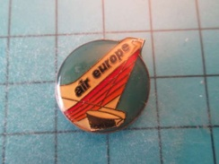 Pin510b Pin's Pins : Rare Et Belle Qualité : AVION AVIATION JET COMMERCIAL AIR EUROPE  , Marquage Au Dos : - ----- - - Airplanes
