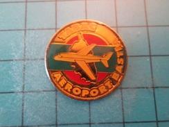 Pin510b Pin's Pins : Rare Et Belle Qualité : CORSE AVION TABAC AEROPORT BASTIA   , Marquage Au Dos : - ----- - - Airplanes