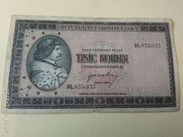 1000 Korun 1946 - Czechoslovakia