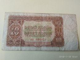 10 Korun 1953 - Cecoslovacchia