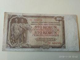 100 Korun 1953 - Cecoslovacchia
