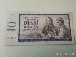 10 Korun 1960 - Tchécoslovaquie