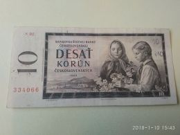 10 Korun 1960 - Cecoslovacchia