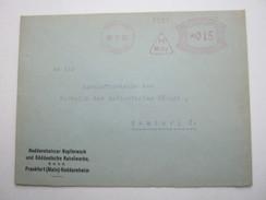 1930 , FRANKFURT / Main    , Klarer Firmen - Freistempel  Auf  Brief - Deutschland