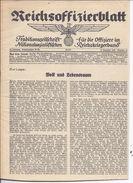 Dt- Reich (005172) Reichsoffizierblatt Traditionsschrift Für Die Offiziere Im Nationalsozalistischen Reichskriegerbung - Magazines & Newspapers