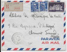 1953 - GUYANE - ENVELOPPE RECOMMANDEE Par AVION De SAINT LAURENT Du MARONI => CLERMONT-FERRAND - GANDON - Guyane Française (1886-1949)