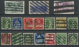 1744 - ZOLLSTEMPEL - 17 Marken Auf Steckkarte - Marcophilie
