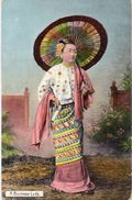BIRMANIE - A Burmese Lady  (101523) - Cartes Postales