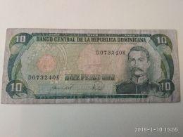 10  Pesos Oro 1990 - Dominicana