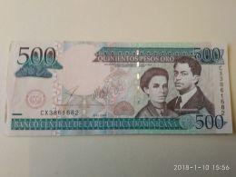 500  Pesos Oro 2003 - Dominicana