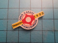 Pin510b Pin's Pins / Beau Et Rare :  OPEN DE KARATE DE SEQUEDIN 1992 - Judo