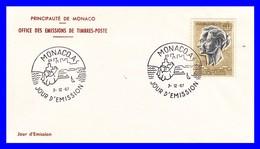PA 90 (Yvert) Sur Enveloppe Premier Jour - Couple Princier - Principauté De Monaco 1967 - FDC