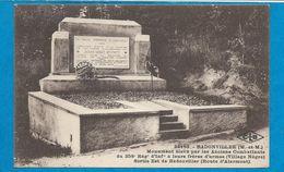 BADONVILLER    Monument élevé Pour Les Anciens Combattants - France
