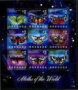 GRENADA 2014** - Farfalle / Butterflies - Block Di 9 Val. MNH, Come Da Scansione. - Butterflies