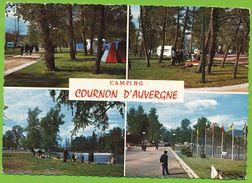 COURNON D'AUVERGNE - Camping Multivues Carte Circulé 1969 - France
