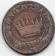 Italie - Napoléon - Centesimo - 1810 - Temporary Coins
