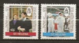 St Helena  1986  SG 486-7  Royal Wedding   Mounted Mint - Saint Helena Island