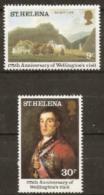 St Helena  1980  SG 367-8  Anniversary Wellingtons Visit   Mounted Mint - Saint Helena Island