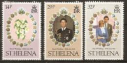 St Helena  1981  SG 378-80  Royal Wedding   Mounted Mint - Saint Helena Island
