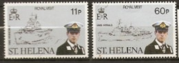 St Helena  1984  SG 436-7  Royal Visit   Mounted Mint - Saint Helena Island