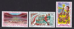 CAMEROUN AERIENS N°  165 à 167 ** MNH Neufs Sans Charnière, TB (D4261) Coupe Du Monde De Football, Mexico - Cameroun (1960-...)