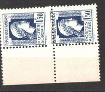 Algérie 1944 Marianne D Alger ,Yvert# 214  - Paire , Piquage A Cheval  - Neufs Sans Char ** - Algérie (1924-1962)