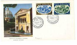VATICANO FDC   - ANNO 1957  PONTIFICIA ACCADEMIA DELLE SCIENZE - FDC