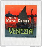 ETIQUETTE HOTEL DANIELI VENEZIA VINTAGE LUGGAGE HOTEL LABEL - Hotel Labels