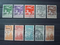 DENMARK 1925-1934 2 SETS COT. 565 EUR / USED - Poste Aérienne