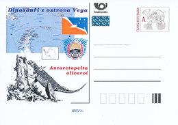 Tschech. Rep. / Ganzsachen (Pre2011/56) Dinosaurier Von Der Insel Vega (1) Antarctopelta Oliveroi - Geography