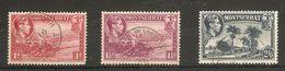 MONTSERRAT 1938 - 1948 PERF 13 VALUES TO 2s 6d SG 102, 103, 109 FINE USED - Montserrat