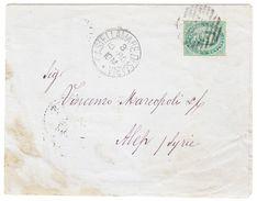 1880 Brief Aus Castellamare Di Stabia Nach Aleppo Syrien, Rückseitig österreichische Post Alexandrien Und Beirut ... - 1861-78 Victor Emmanuel II.