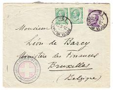 1921 Brief Der Commission Officielle De L'Union Swiss, Constantinople, Stempel Post Militaire Nach Brüssel - Militärpost (MP)