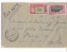 SOMALIS - 1938 - ENVELOPPE Par AVION De DJIBOUTI => PARIS - Lettres & Documents