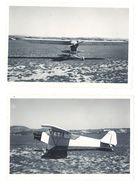 2 Photos Amateur Avion Monoplan, Aviation, à Identifier - Aviation