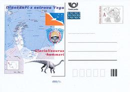 Tschech. Rep. / Ganzsachen (Pre2011/58) Dinosaurier Von Der Insel Vega (3) Glacialisaurus Hammeri - Other