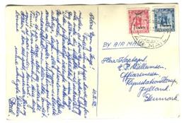 CYRENAICA CIRENAICA Overprinted LIBYA LIBIA  20+2 Mills On Photo Postcard 1952 Postmark BENGHAZI AIR MAIL - Libia