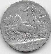 Italie - 1 Lire - 1908 - Argent - 1900-1946 : Victor Emmanuel III & Umberto II