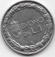 Italie - 1 Lire - 1922 - Argent - 1900-1946 : Victor Emmanuel III & Umberto II