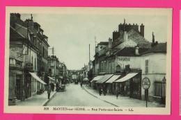 CPA(Réf :Z 803) MANTES-sur-SEINE (78 YVELINES) Rue Porte-aux-saints - Mantes La Jolie