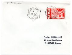 CHARENTE - Dépt N° 16 = CHALAIS CP N° 6 1966 =  CACHET  HEXAGONAL  G7 = CIRCUIT Correspondant Postal SAINT ROMAIN - Bolli Manuali